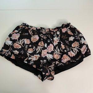 Amuse Society Floral Boho Lined Pull On Shorts
